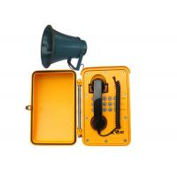 Water Proof Industrial Box Telephones IP67 Yellow , Corded Wall Telephones Manufactures