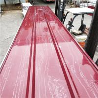 Quality 50mm eps sandwich roof panel with 0.4mm red wine steel up and 0.35mm down to Uruguay for sale