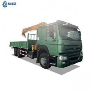 China 7000x2300x600mm Cargo Box Sinotruk Howo 6x4 336hp 10 Ton Truck Mounted Crane on sale