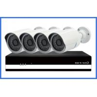 China 1 / 4 Million Pixel H.264 Onvif 720P POE Bullet CCTV Camera Kits 4 PCS NVR on sale