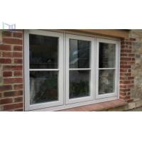 Double Tempered Glass French Aluminium Casement Windows for Commercial Building Manufactures