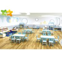 China Customized Size Kids Daycare Furniture Ergonomic Structure Powder Coated on sale