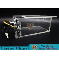 Buy cheap 6 Decks Casino Card Box / Poker Card Box With Metal Handle Easy To Carry from wholesalers