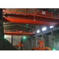 Automatic 24-hours Running Electric Overhead Crane With Grab Bucket For Lifting Waste To Boiler Manufactures