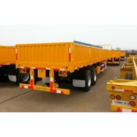 Flatbed 3 Axles 50 Tons Container Hauler Trailer 1000mm High Dropside Manufactures