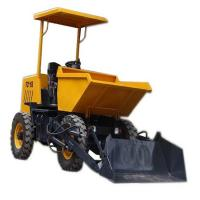 China Yellow 4x4 Wheel Drive 2 Ton Mini Site Dumper FCY20S With Self Loading Bucket on sale