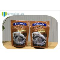 Smell Proof Laminated Coffee Packing Bags , Safety Ziplock Storage Bags Manufactures