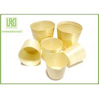 China Smooth Healthy Wooden Sushi Boat Disposable Poplar Wooden Cups For Sauce on sale