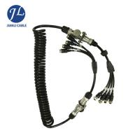 China 7 Pin Male Connect Four Female Aviation Cable For Split Screen Reversing Camera System on sale