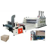 Quality Cardboard Flexo Printing Slotting Machine With Automatic Counting 65 Sheets/Min for sale