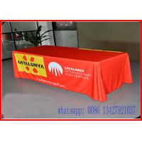 6Ft Pantone Match printing Tension Fabric Displays Printed Tablecloth Runner Manufactures