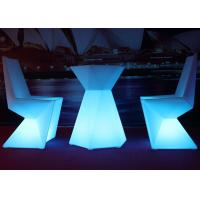 IP54 Waterproof LED Light Chair Led Illuminated Furniture Full Color Led Chair Manufactures