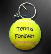 China promotional logo printed tennis ball keychain on sale