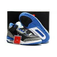 """Buy cheap New arrive Air Jordan 3 1:1 shoes """"Joker"""" Black/Electric Blue on www.clothing from wholesalers"""