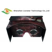 China 3.5-6.0 Inch Cell Phone Cardboard VR Viewer Waterproof With Two Sides Printing on sale
