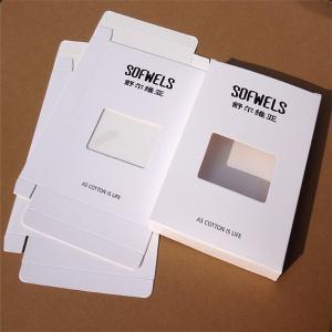 Men's Underwear Paper Packaging Box with Clear Window