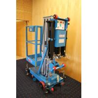 Easy Loading Hydraulic Work Platform , 10 Meter Vertical Mast Lift For Factories Manufactures