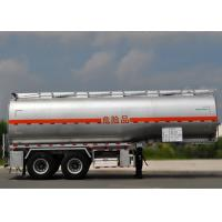 China 28000L 2 Axles Carbon Steel Tanker Trailer For Fuel Oil And Diesel Transit on sale