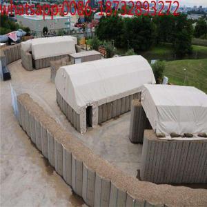 military used welded gabion box /Hesco Barrier Gabion box/ Hesco barriers mil 10 size: 30.5m*1.52m*2.21m Manufactures