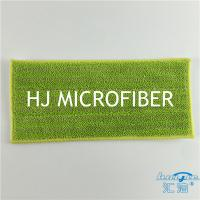 Green Color Microfiber Bath Refill Mop Pads Twist Pile Cloth Floor Cleaning Mop Heads Manufactures