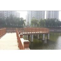 China Wood Plastic Composite WPC Outdoor Fence Bridge for Garden and Park on sale