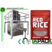 Doypack Automatic Pouch Packing Machine , Rotary Filling And Sealing Machine