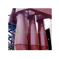 Red Cyclone Dust Separator Collector / Cement Dust Collector Filter Long Using Life Manufactures