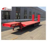 Customized Color Extendable Flatbed Trailer With Manual Or Hydraulic Ladder Manufactures