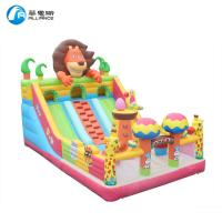 PVC Inflatable Bounce Castle Animal Paradise Jumping Bouncer With Slide For Kids Manufactures