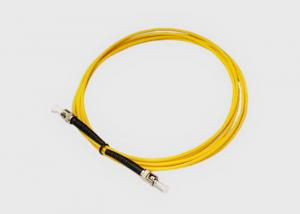 China Single Mode 62.5/125 ST-ST Fiber Optic Jumper Cable For Data Center on sale