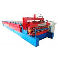 China Customized Color Steel Roof Roll Forming Machine , Wall Panel Roll Forming Machine on sale