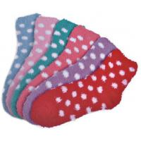 Polka dot pattern Polyester plush socks with aloe infused , spa socks Manufactures