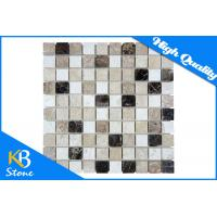 """Mixed Colour Square StoneTravertine Mosaic Marble Wall Tiles Meshed On 12"""" x 12"""" Sheets Manufactures"""