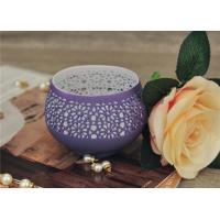 Colored Ceramic Pumpkin Candle Holder Anti Impact SGS Certification