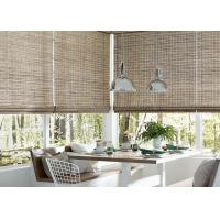 Straw Material Manual Roller Blind Interior Decoration For Bedroom / Living Room Manufactures