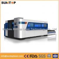2000W Fiber Laser Cutting machine with exchanger working table , laser protection cabinet Manufactures