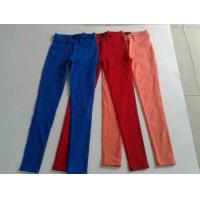 Quality 17000pcs overstock women brand surplus skinny pants, slim fitting trousers lots inventory for sale