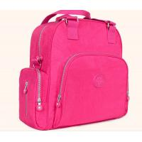 Polyester Cute Baby Diaper Backpack  Rose Color Eco Friendly Advantage Manufactures