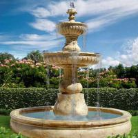 Antique European Large Travertine Marble Stone Garden Pool Water Fountain Manufactures