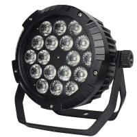 Full-color 18*18W  6in1 Leds Waterproof Outdoor Stage Lighting Slim Par Light Manufactures