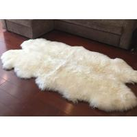 Real Sheepskin Rug Large Ivory White Australia Wool Area Rug 4 x 6 ft 4 Pelt Manufactures