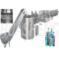 Plastic PET Bottle Carbonated Drink Filling Machine Complete Line 12 - 60 Filling Heads Manufactures