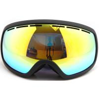 Three Layer Foam Mirrored Ski Goggles Spherical Lens type / Ladies Snowboard Goggles Manufactures