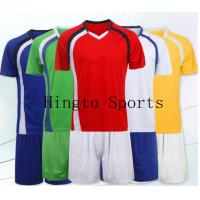 Red Comfortable Soccer Team Wear / Customize Soccer Uniforms for Boys Manufactures
