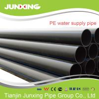 PE100 water supply black hdpe pipe for water with blue line 200mm Manufactures