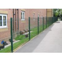 China Green Hot Dipped Galvanized Welded Wire Mesh Fence By Mesh Size 50X100mm on sale