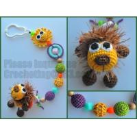 wood bead pacifier clip, non-toxic, baby shower gift, dummy holder, amigurumi Manufactures