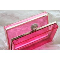 Red Party acrylic makeup storage boxes / perspex boxes Eco-Friendly Manufactures