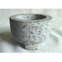 Custom Shape Granite Stone Bowl Outside Honed Finish Non Toxic With 3 Legs Manufactures