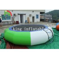 China Custom PVC Floating Inflatable Water Toy / Metal Frame Elastic Water Trampoline on sale